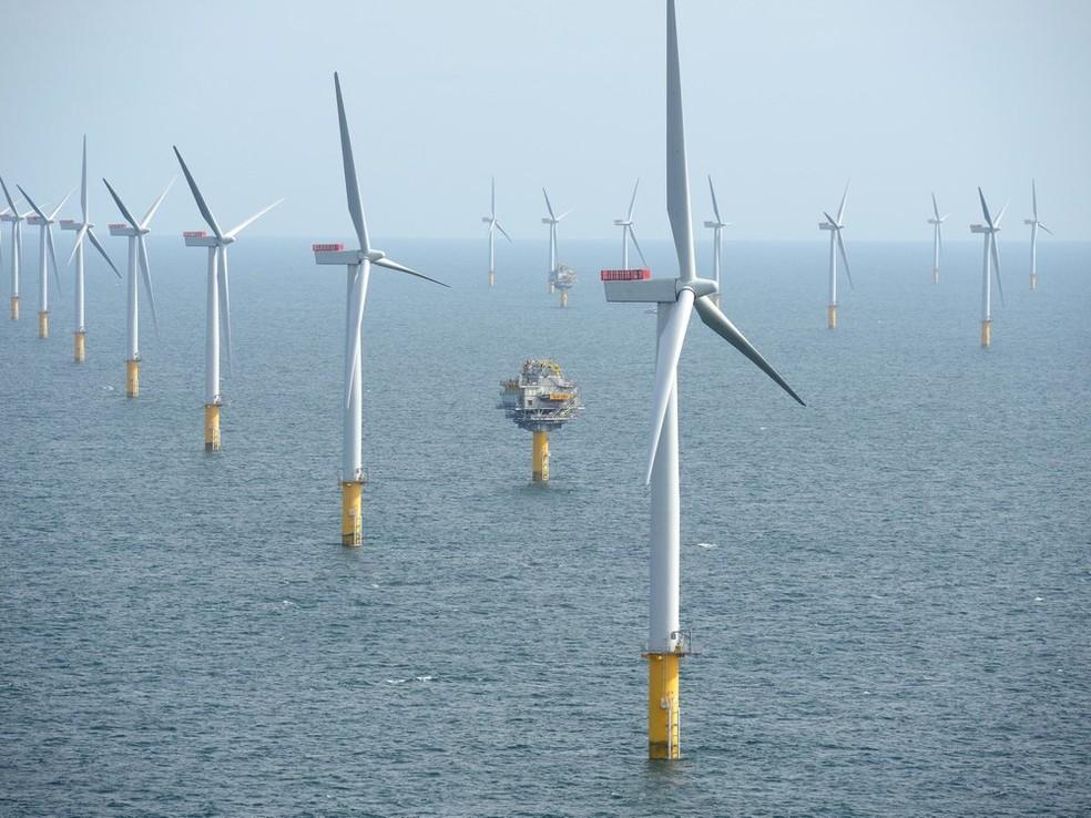 Usina de energia eólica na Alemanha (Foto: Wikimedia Commons)