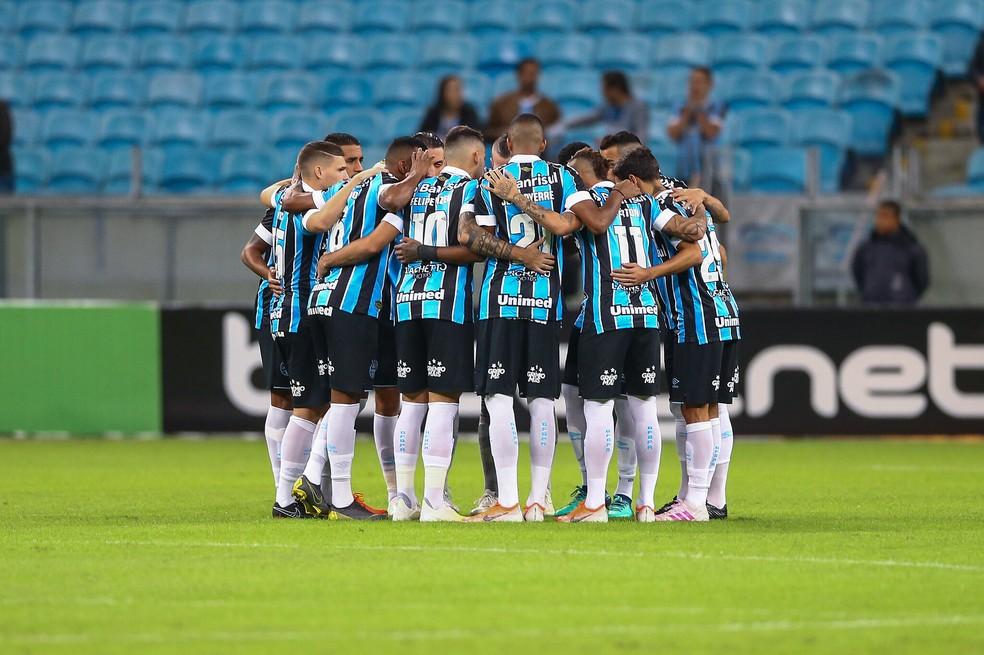 Grêmio se inspira em campanhas anteriores para deixar o Z-4 — Foto: Lucas Uebel / Grêmio FBPA