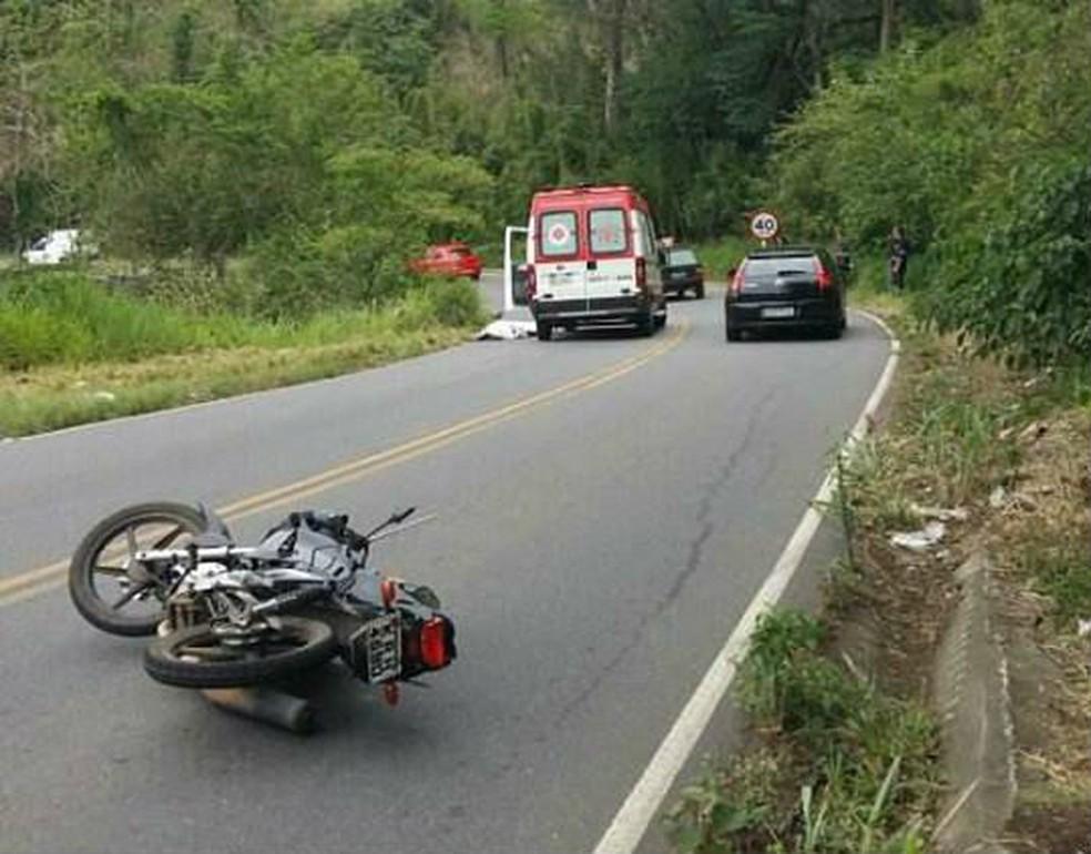 4da607f80 ... Acidente na Estrada União indústria em Juiz de Fora — Foto:  PMR/Divulgação