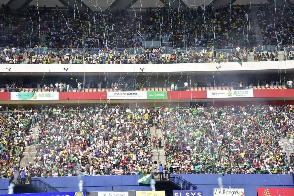 Arena da Amazônia lotou neste domingo — Foto: Mauro Neto/Sejel