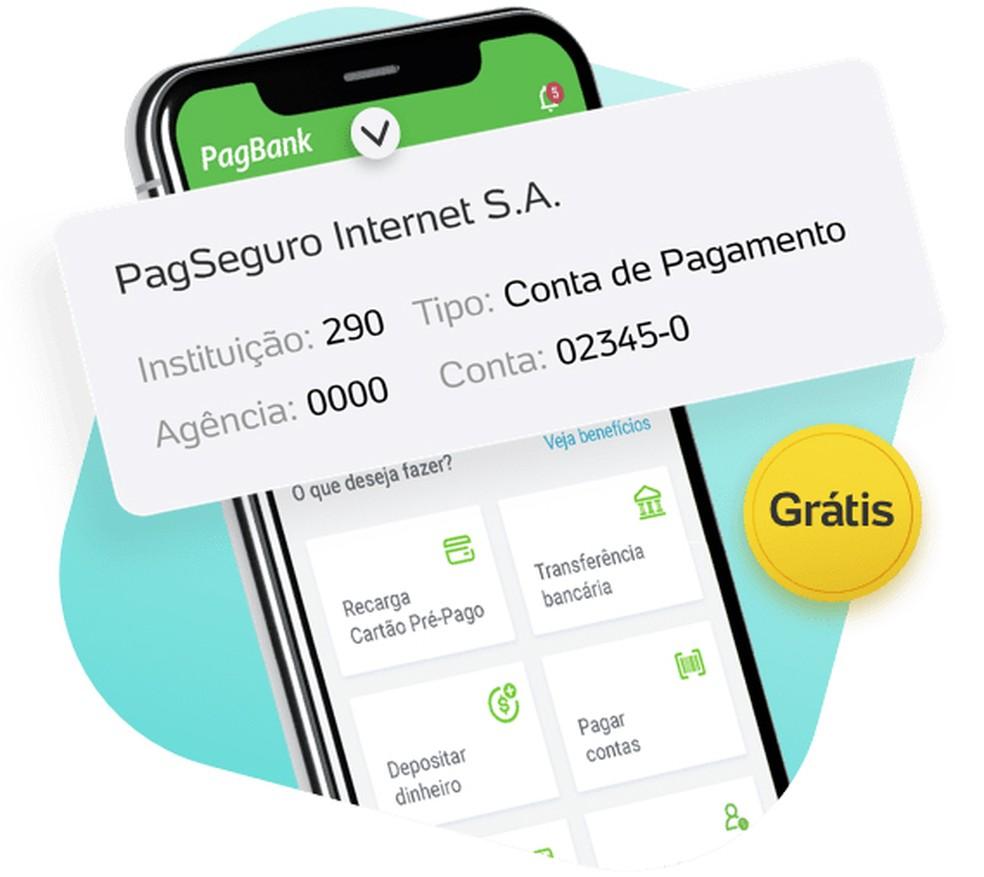 Conta digital do PagBank não cobra taxas ou anuidades — Foto: Divulgação/PagBank