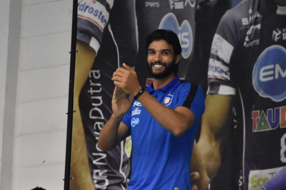 Mohamed Al Hachdadi Vôlei Taubaté — Foto: Filipe Rodrigues/GloboEsporte.com