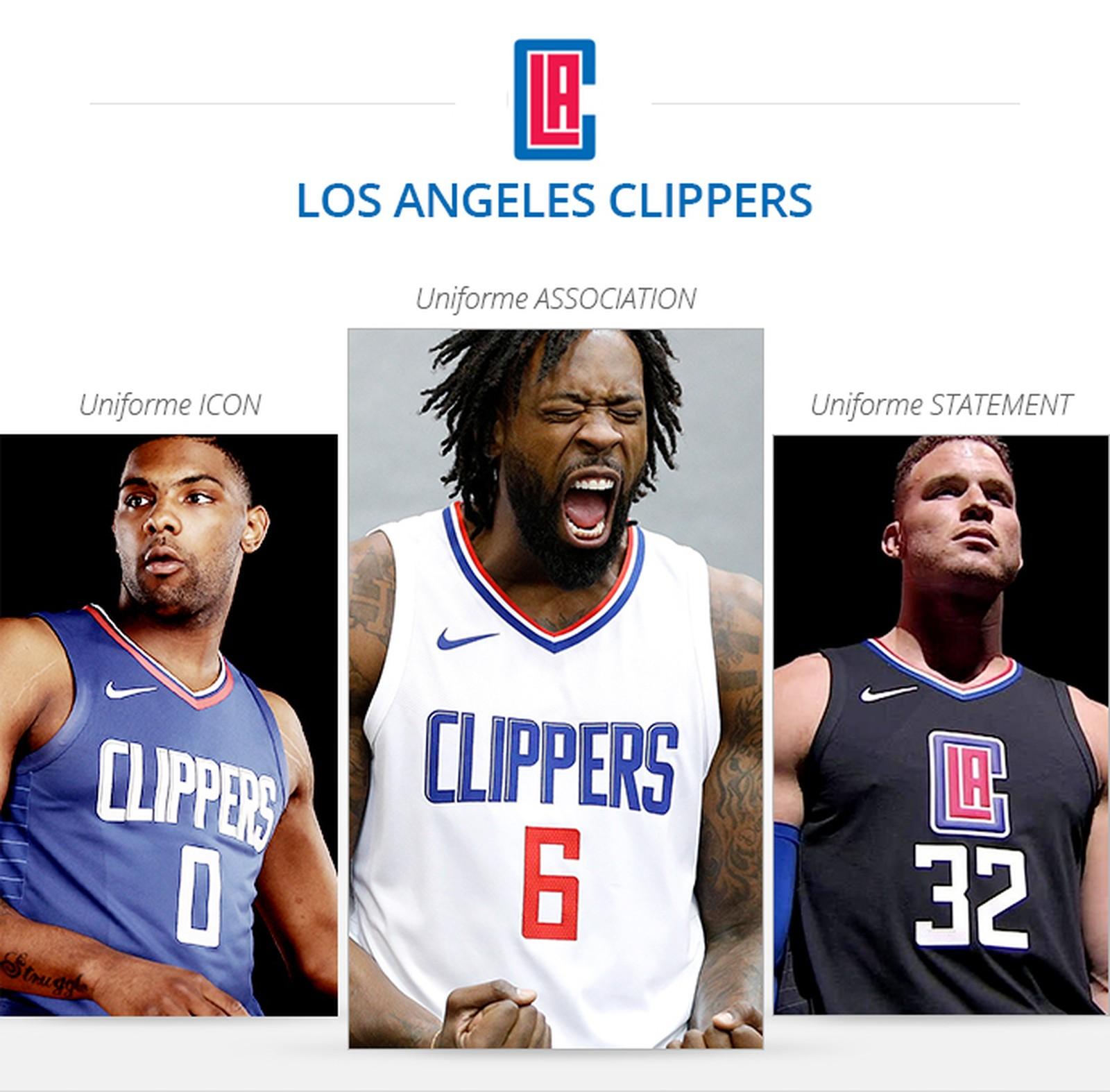 Uniformes Los Angeles Clippers saison 2017/18