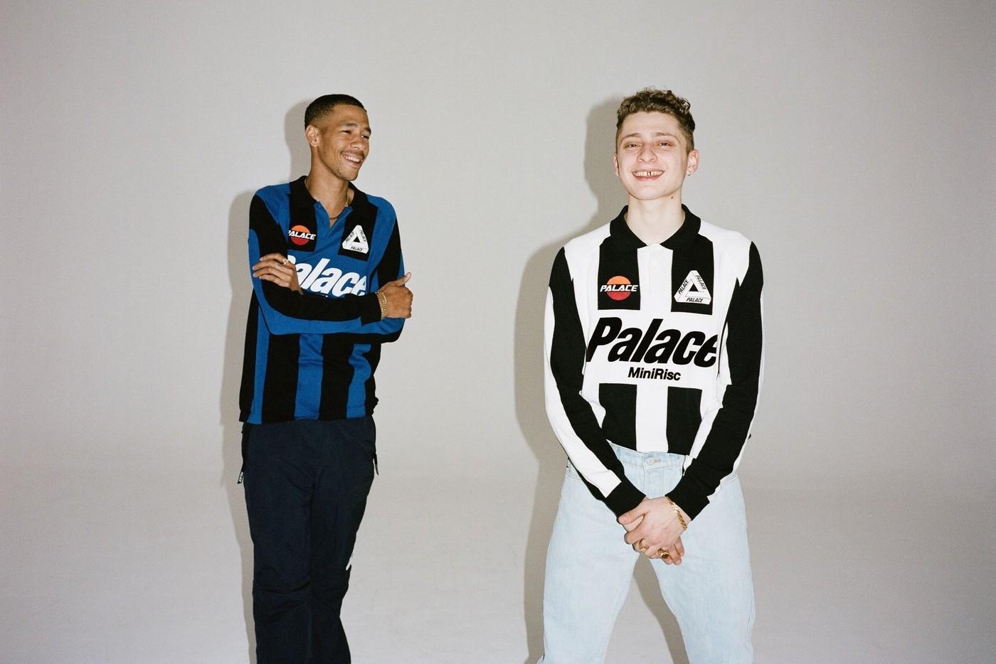 As camisas da Palace inspiradas nos uniformes de Inter de Milão e Juventus dos anos 80 (Foto: Divulgação)