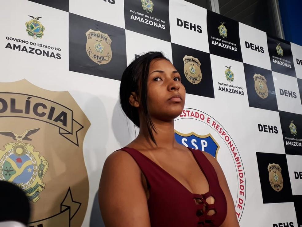 Milane se entregou à polícia e confessou agressões que causaram morte â?? Foto: Eliana Nascimento/G1 AM