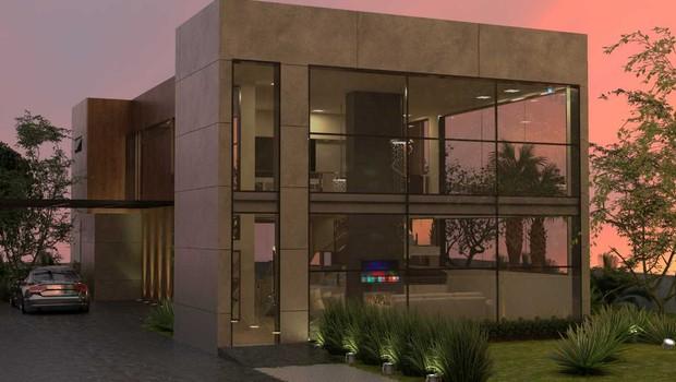 Projeto de casa de alto padrão em condomínio de luxo em Lisboa, Portugal (Foto: Divulgação)