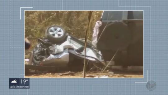 Quatro pessoas ficam feridas em acidente envolvendo três veículos na BR-265