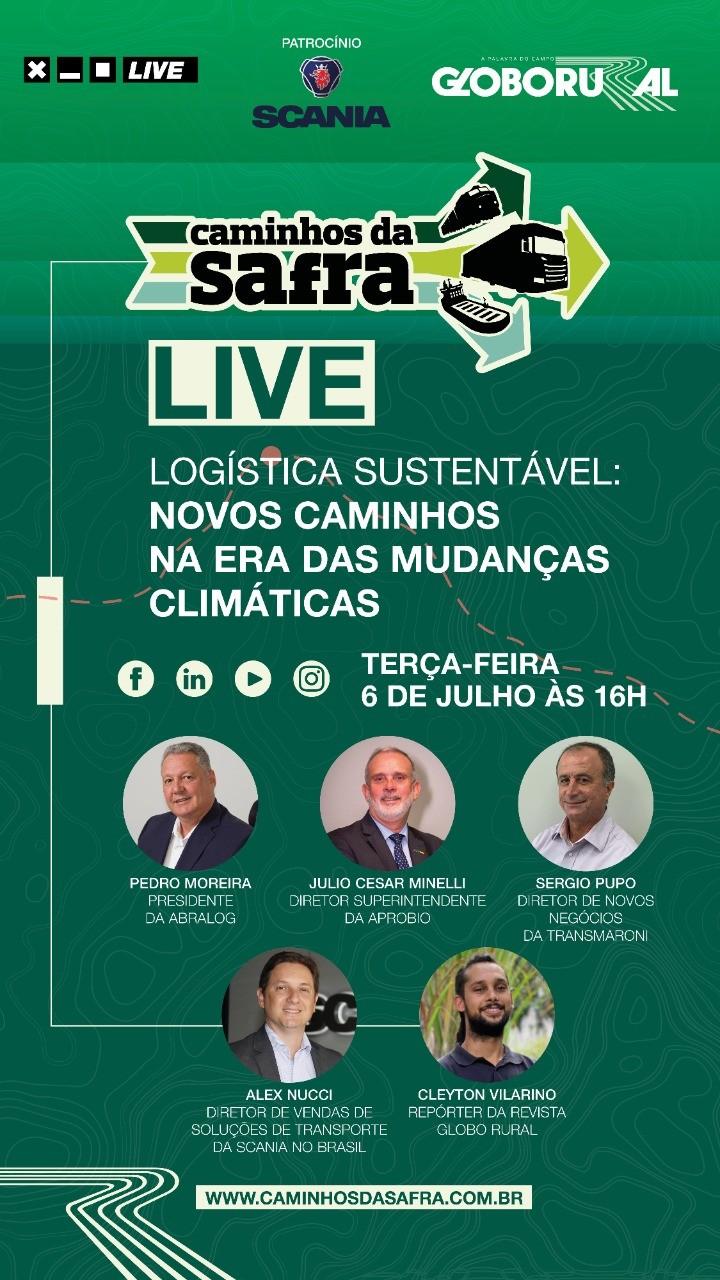 Live discutirá o futuro da logística sustentável no Brasil (Foto: Estúdio de criação/Ed.Globo)