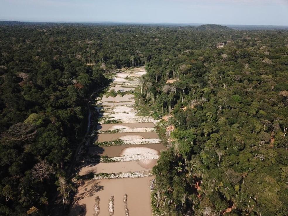 PF apreende material utilizado em garimpo ilegal dentro de terrea indígena no Pará — Foto: Divulgação/PF