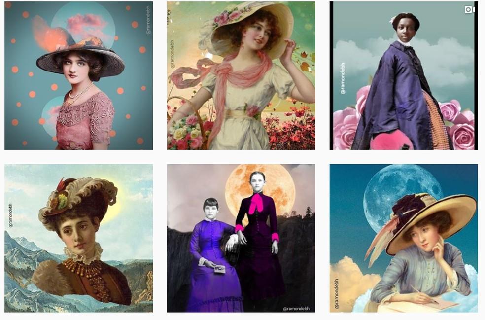 Imagens da conta 'relicário', criada por Débora Diniz — Foto: Instagram/Reprodução