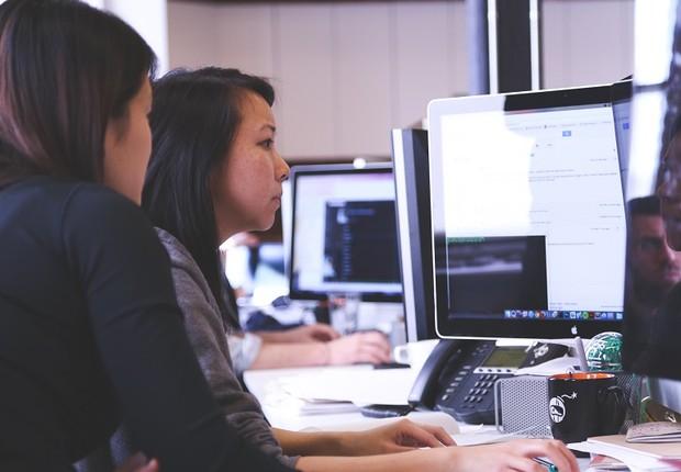 mulheres, tecnologia, trabalho (Foto: Pexels)
