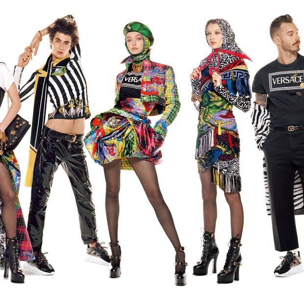 A campanha de inverno 2019 da Versace (Foto: Divulgação)