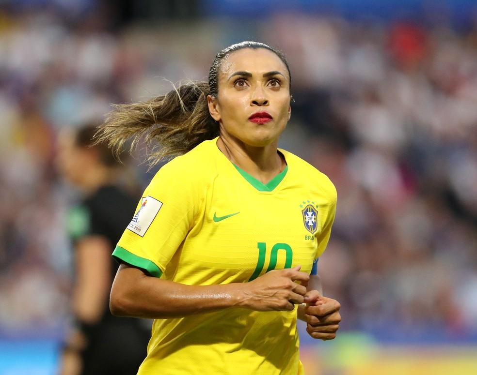 Marta Brasil x França Copa do Mundo Feminina — Foto: Reuters