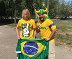 O jornalista brasileiro Tomer Savoia e o russo Yuri Torsky se encontram em Kazan | Arquivo Pessoal