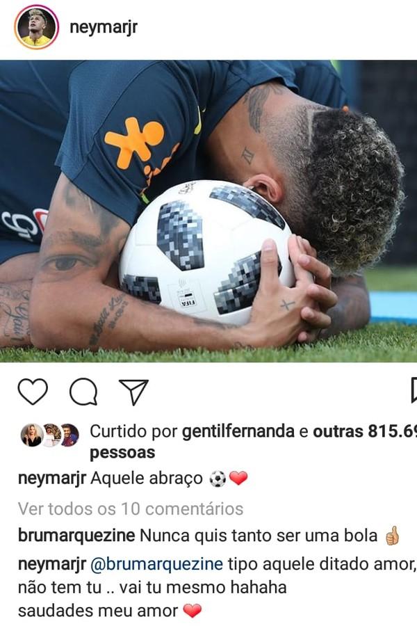 Marquezine e Neymar trocam declarações  (Foto: Reprodução)