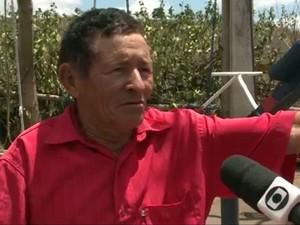 José Luiz, agricultor e inventor do parque de diversões. (Foto: Reprodução/TV Cabo Branco)