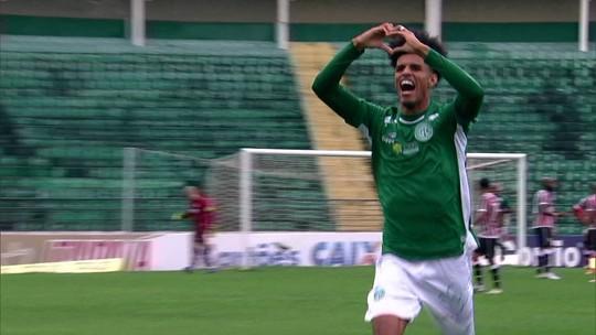 Os gols de Guarani 2 x 0 Santa Cruz pela 21ª rodada da Série B do Brasileirão
