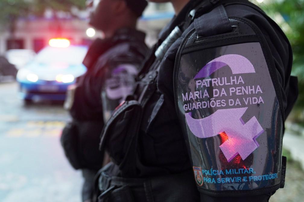 Patrulha Maria da Penha da Polícia Militar do RJ — Foto: Jorge Soares/G1