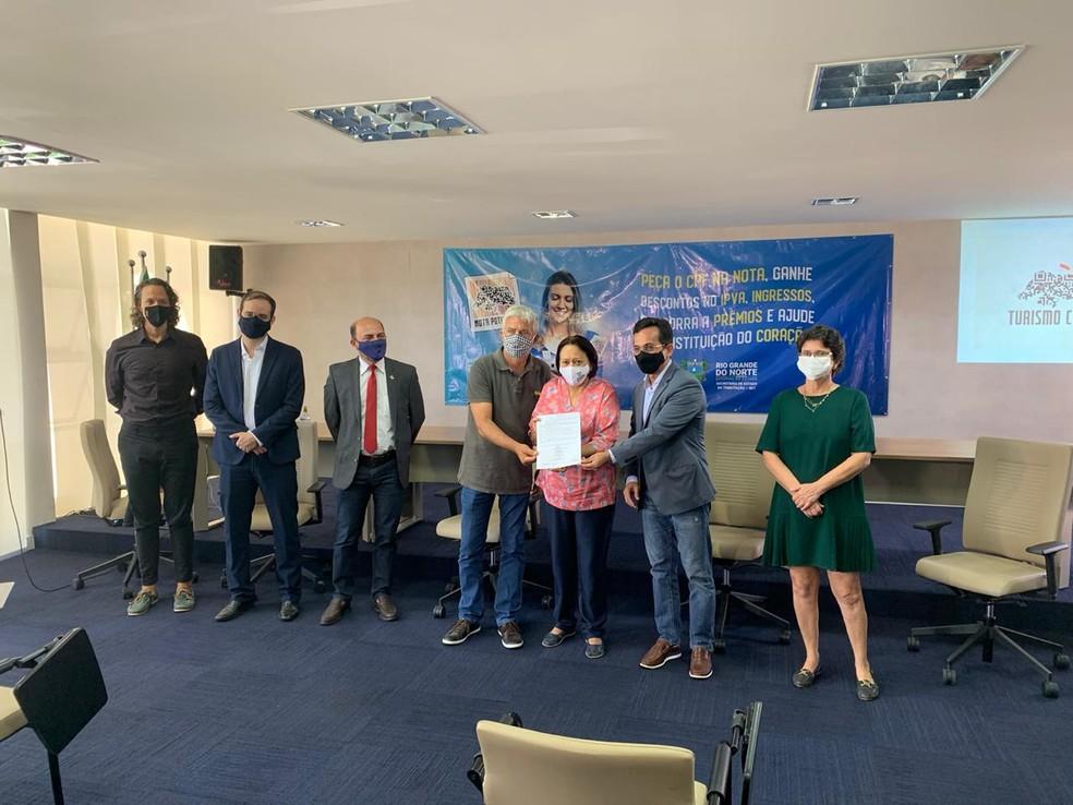 Lançamento do Programa Turismo Cidadão na Governadoria — Foto: Anna Alyne Cunha / Intertv Cabugi