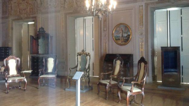 Salão do Museu Nacional, da época em que abrigava a família imperial brasileira (Foto: Arquivo pessoal)
