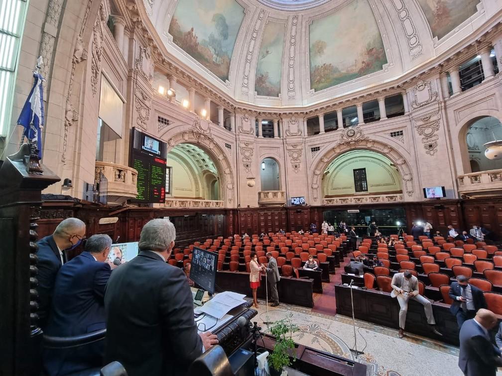 Votação na Alerj nesta terça-feira (23) — Foto: Thiago Lontra/Divulgação/Alerj