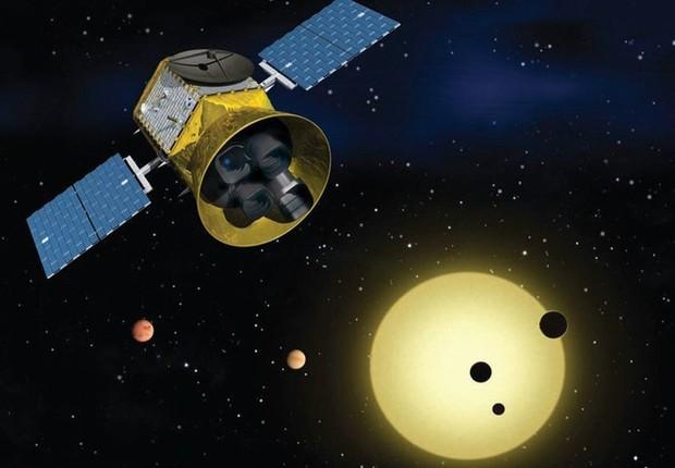 Missão Tess pretende buscar exoplanetas que orbitem estrelas (Foto: Divulgação / Nasa)