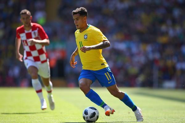 Philippe Coutinho no amistoso do Brasil contra a Croácia (Foto: Getty Images)