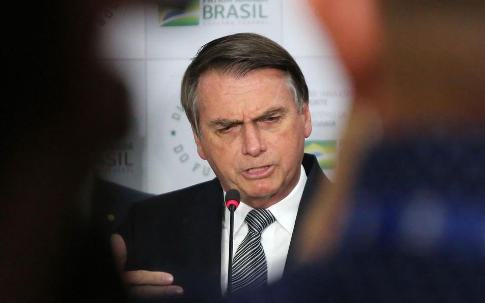 'Se não puder ter filtro, nós extinguiremos a Ancine', diz Bolsonaro — Foto: Fátima Meira/Futura Press/Estadão Conteúdo