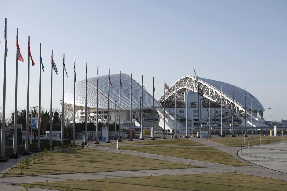 Estádio Olímpico Fisht, em Sochi, na Rússia, sede da Copa das Confederações 2017 e da Copa do Mundo 2018 (Foto: AP Phoro/Artur Lebedev)