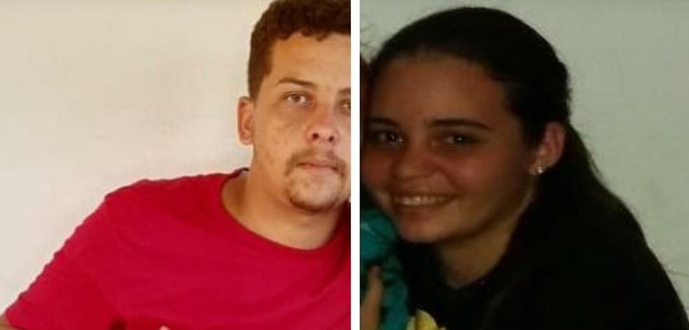 Beatriz Cristina da Silva Teixeira, de 18 anos, e José Everson da Silva Gomes, de 24 anos foram mortos a tiros — Foto: Cedidas