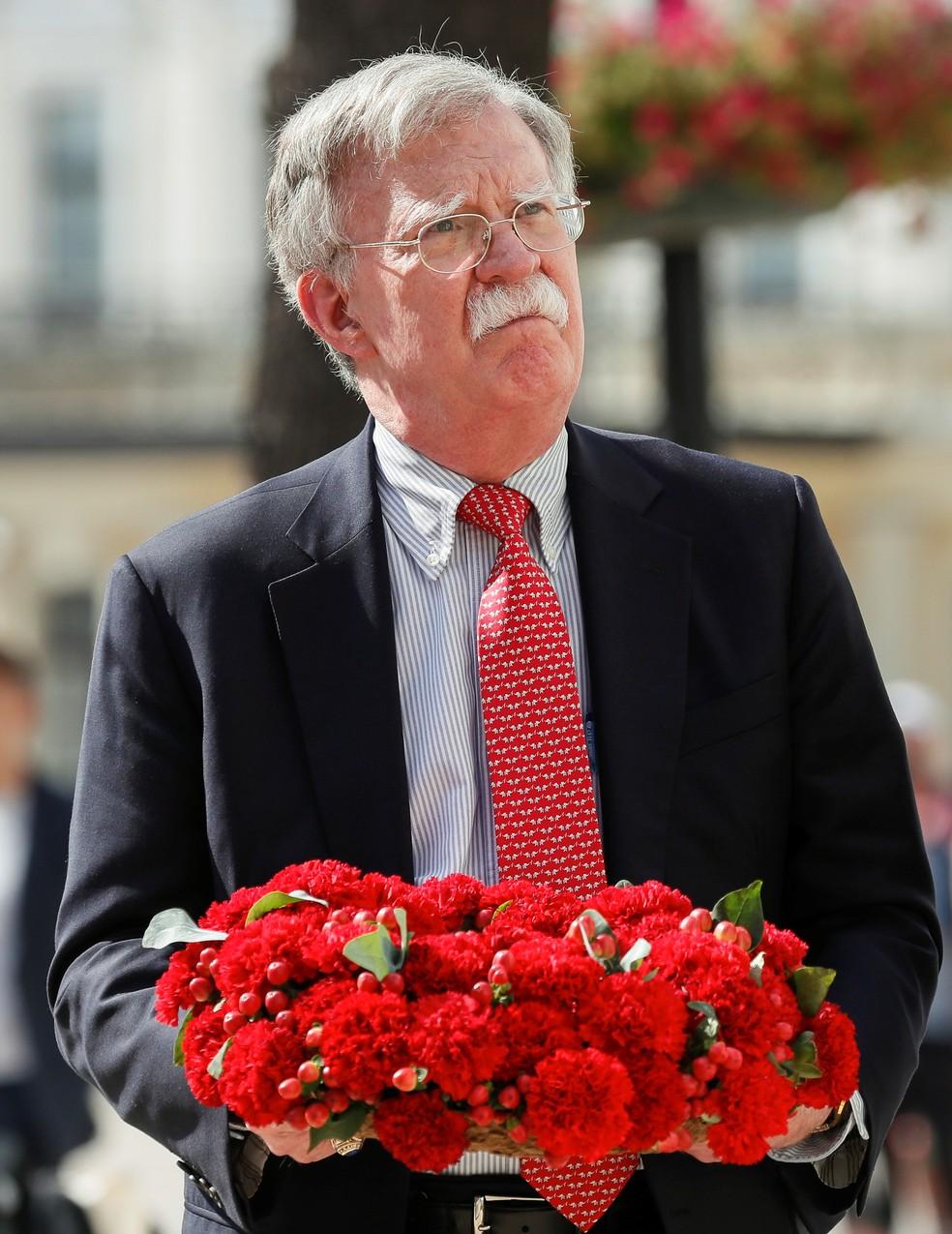O ex-conselheiro de segurança nacional americano, John Bolton. — Foto: Gleb Garanich/Reuters