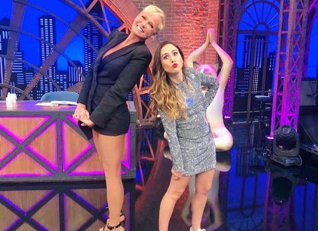 Xuxa foi a convidada de Tatá Werneck na estreia da nova temporada do 'Lady night' (Foto: Divulgação)
