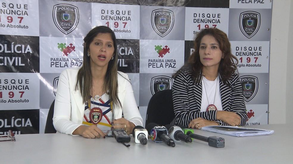 Detalhes do caso foram repassados pela Polícia Civil durante uma entrevista coletiva concedida à imprensa na tarde desta quarta-feira (14) (Foto: Reprodução/TV Paraíba )