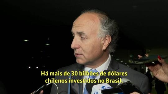 Chanceler chileno defende que relações entre Brasil e Chile 'transcendam pessoas'