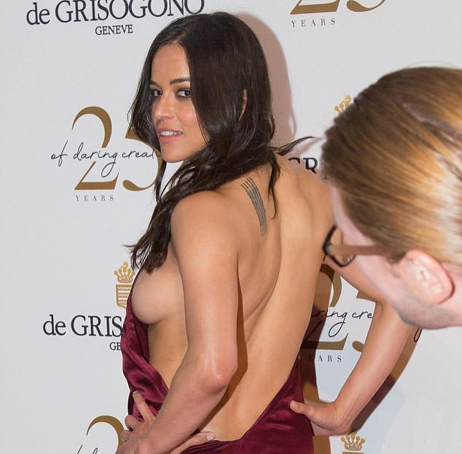 Michelle Rodriguez, estrela de 'Velozes e Furiosos', em festa em Cannes (Foto: Reprodução/Instagram)