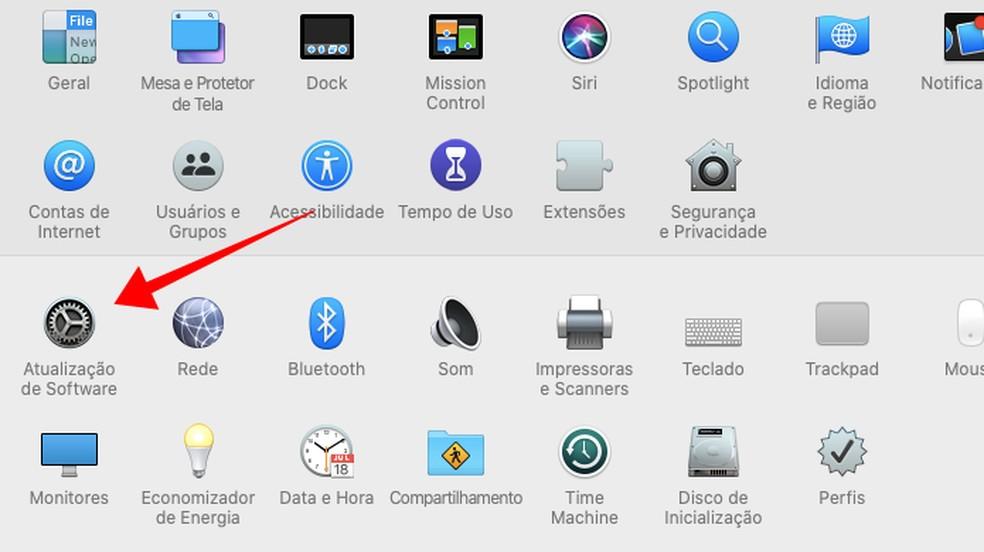 Acesse o menu de atualizações de software do macOS — Foto: Reprodução/Paulo Alves