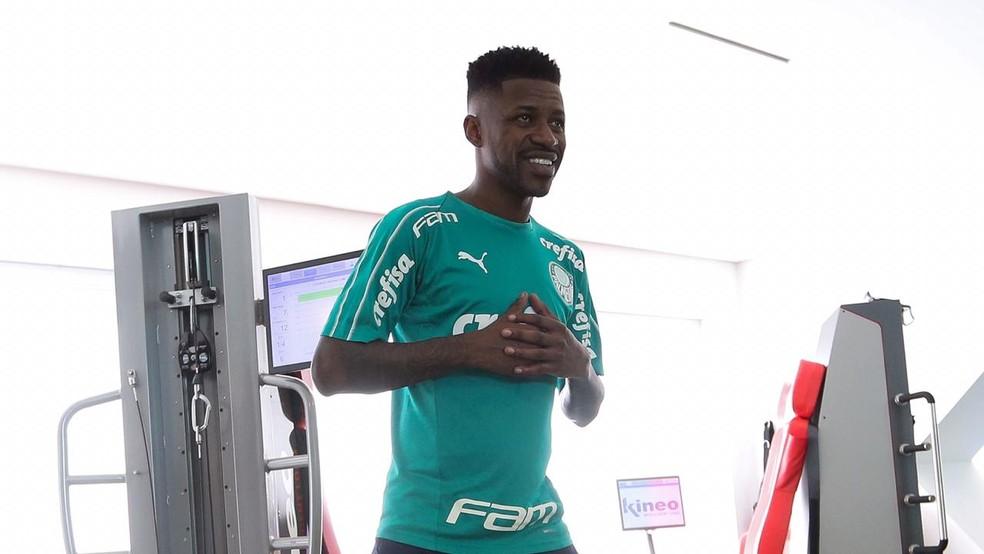 Ramires se apresenta ao Palmeiras — Foto: Cesar Greco / Ag Palmeiras
