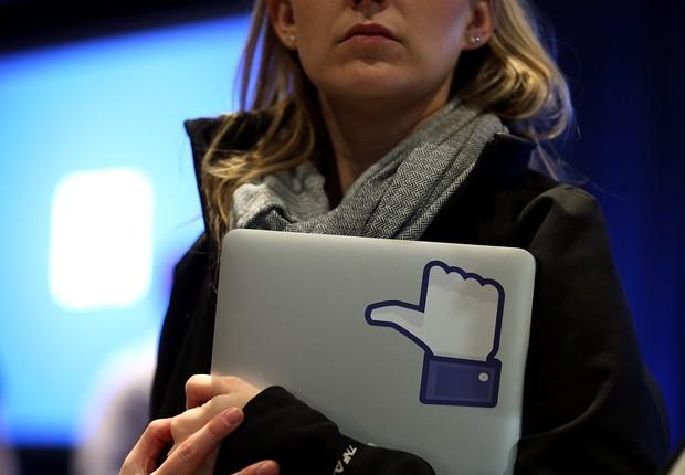 Símbolo do botão Curtir, do Facebook (Foto: Justin Sullivan/Getty Images)