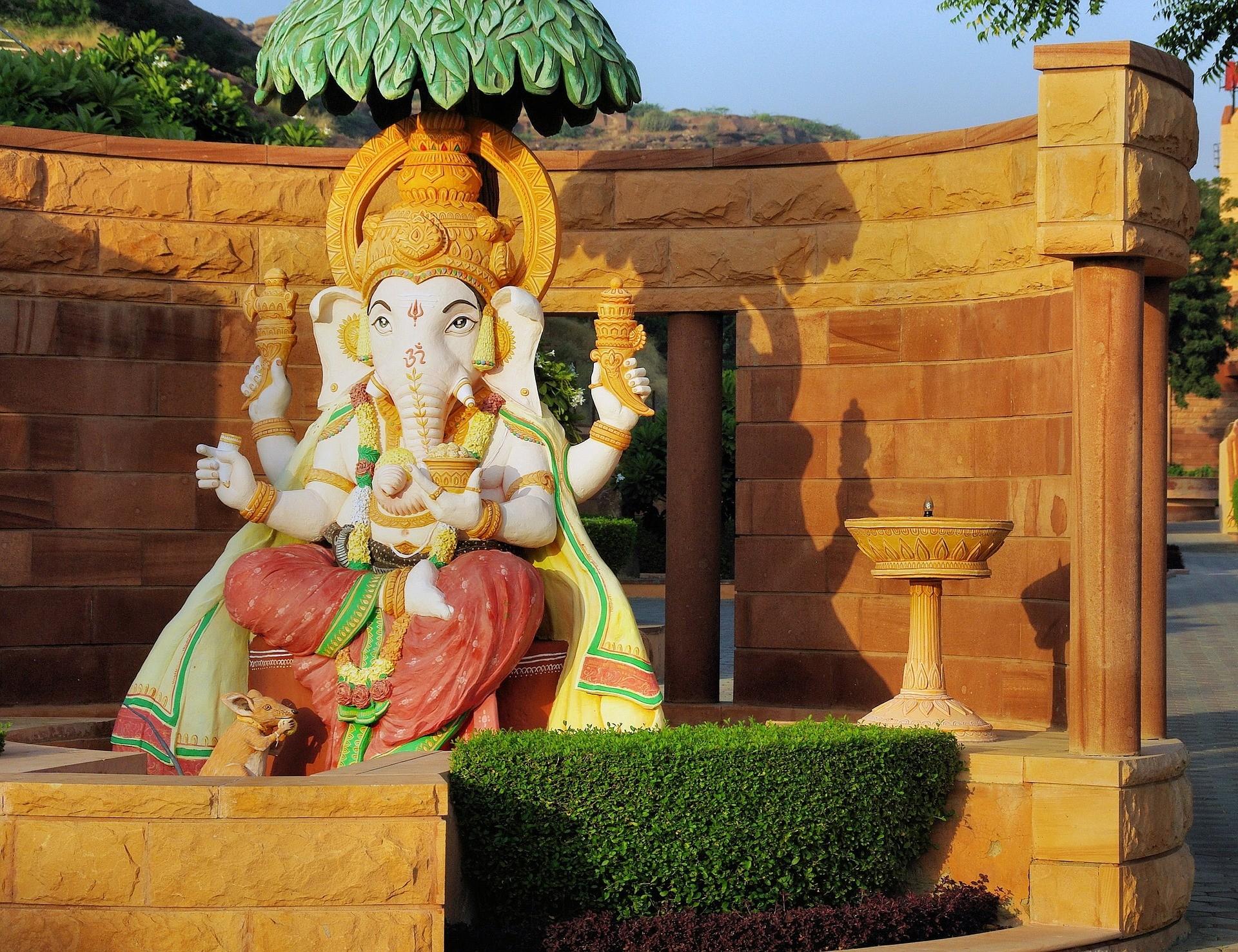O deus Ganesha, cultuado entre os hindus (Foto: Pixabay)