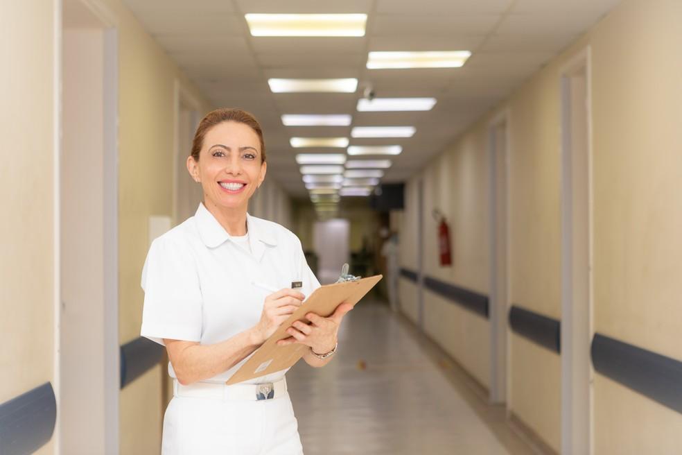 Brigadeiro Médica Carla Lyrio Martins é a primeira mulher promovida ao posto de oficial-general da FAB — Foto: Sargento Johnson Barros / CECOMSAER-FAB