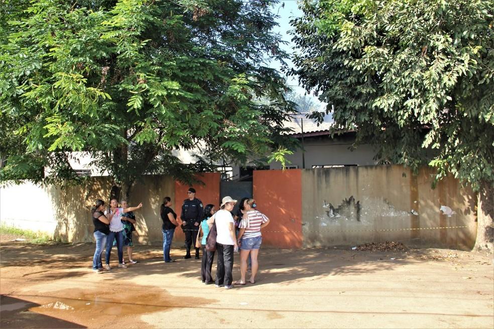 Escola Paulo Nunes Leal após incêndio — Foto: Governo de Rondônia/Divulgação