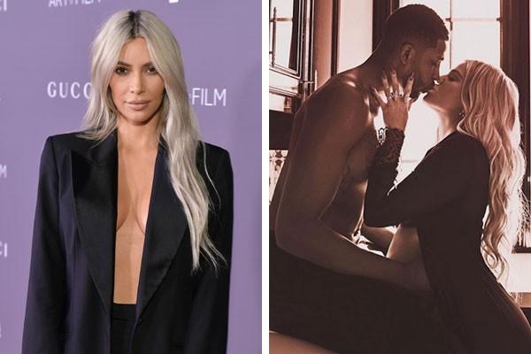 Kim Kardashian e o casal - ainda apaixonado - Tristan Thompson e Khloé Kardashian (Foto: Getty Images/Reprodução Instagram)