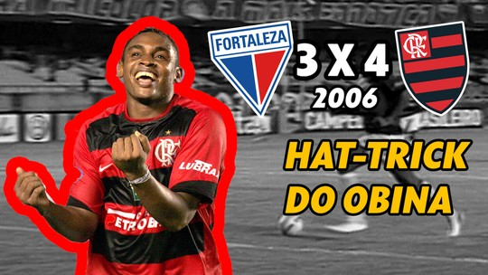Último jogo entre Fortaleza e Flamengo no Castelão pelo Brasileiro teve hat-trick de Obina