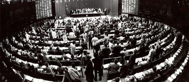 Câmara dos Deputados, constituinte de 1988 (Foto: EBC)