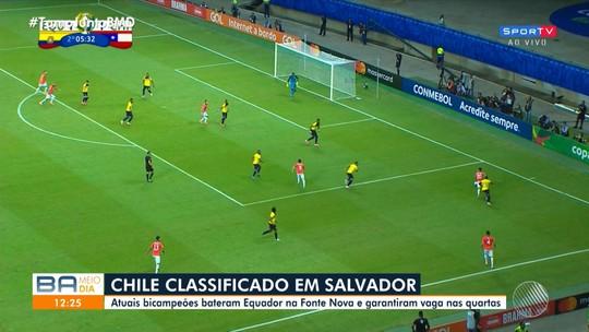 Copa América 2019: seleção chilena vence o Equador por 2 a 1 na Arena Fonte Nova