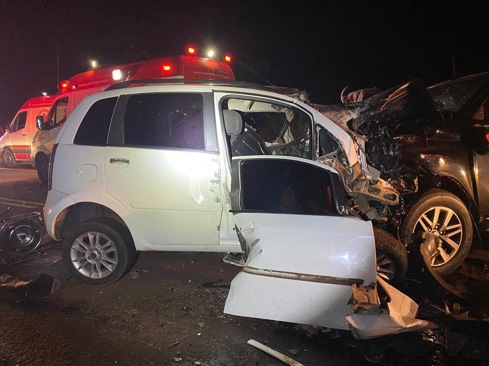 Vítimas de veículo envolvido em acidente moravam em Braganey — Foto: PRF/Divulgação