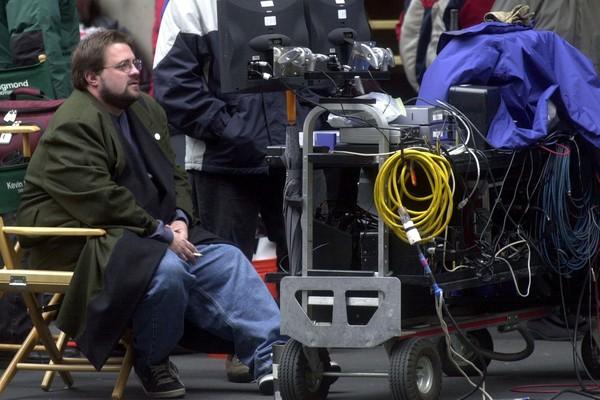 O diretor Kevin Smith em uma foto antiga, feita antes de seu ataque cardíaco (Foto: Getty Images)