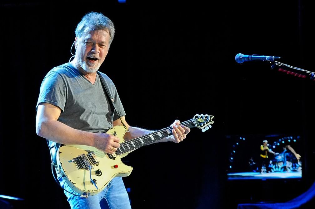 Eddie Van Halen, em foto de setembro de 2015 — Foto: Manuel Nauta/NurPhoto/NurPhoto via AFP/Arquivo