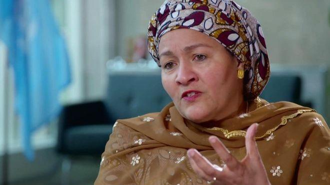 Amina Mohammed já foi ministra do Meio Ambiente da Nigéria (Foto: BBC)