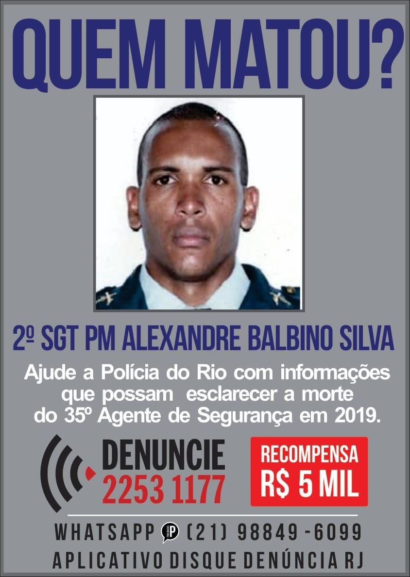 Disque Denúncia divulga cartaz para identificar suspeitos de morte de policial militar em Resende - Notícias - Plantão Diário